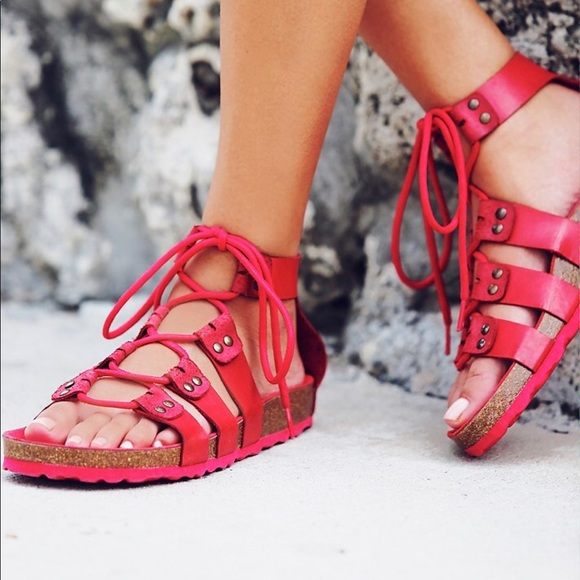 Free People Shoes - Free People X Jeffrey Campbell Lace Up Sandals