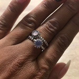 Jewelry - Pandora style rings size 8