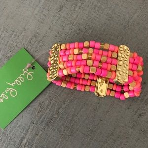 Lilly Pulitzer Beaded Cuff Bracelet