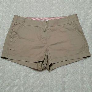 NWOT J Crew Broke-In Chino Shorts - size 8