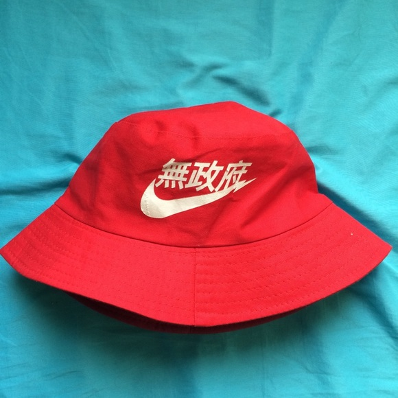 4bd4b6560b3 RARE Nike Air BucketHat RED Japanese Chinese
