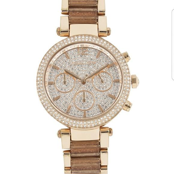 b3272edcdf30 Michael Kors Parker Rose Gold Tone Watch