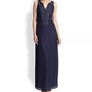 NWT Lilly Pulitzer Embroidered Navy Maxi Dress