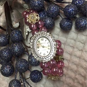 Princess embellished watch