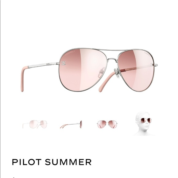 b9ff3bb7036ae CHANEL Accessories - Chanel Pilot aviator Sunglasses baby pink