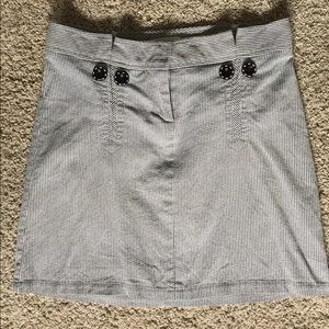 Black and White Seer-Sucker Skirt