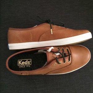 262cdee9b36e2 Keds Shoes - Brand New Burnished Leather Cognac Women s Keds