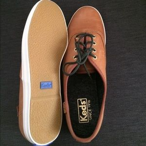 56f3d11f3d3aa Keds Shoes - Brand New Burnished Leather Cognac Women s Keds