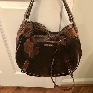 Miu Miu Bags - Miu Miu Suede and Leather Western Shoulder Bag 7e6474f6d69bc