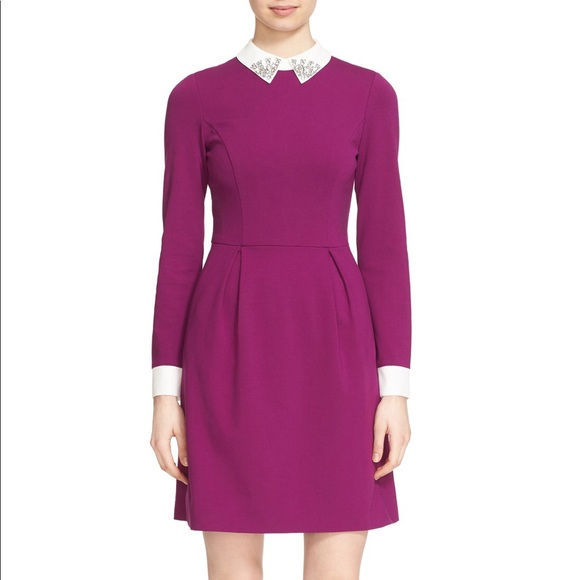 68af955457eb85 Ted Baker  Moona  Embellished Collar Dress