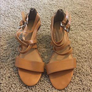 Shoedazzle open toe wedges