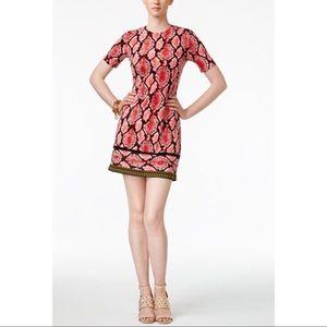 Michael Kors Snake‑Embossed Sheath Dress