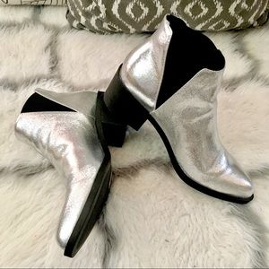 metallic booties