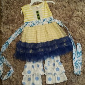 Other - Blue/yellow girls outfit sz 3