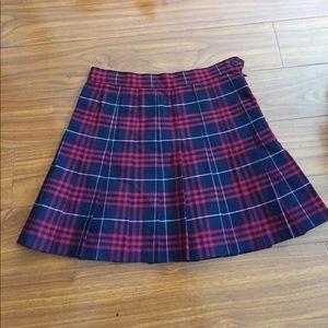 AA Plaid Schoolgirl Pleated Tennis Skirt