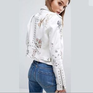 Blank NYC Floral Embroidered Jacket XS