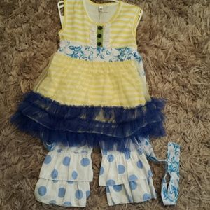 Other - Blue/yellow girls outfit sz 5