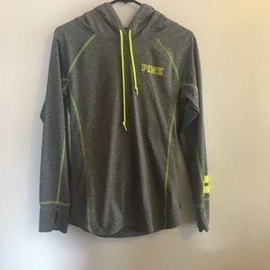 Pink - Grey Athletic Pullover Sweatshirt