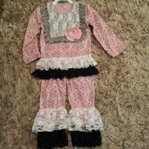 Other - Pink/gray girls outfit sz 4
