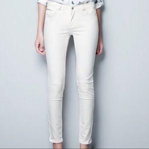 NWT Zara White Skinny Jeans