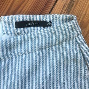 Ark & Co blue & white shorts
