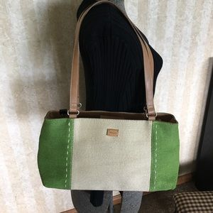 Relic green and cream bag