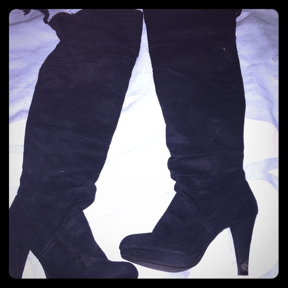 55 Off Fioni Clothing Shoes Over The Knee Heeled Boots