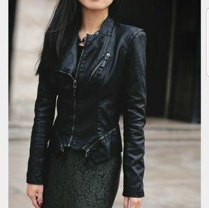 NWOT Blank NYC Vegan leather jacket size LARGE