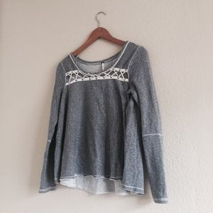 Free People Cut Out Rope Pullover