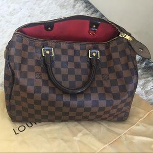 💯Authentic Louis Vuitton Damier Speedy 30