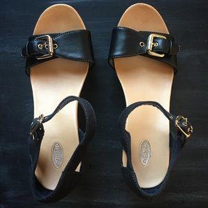 Shoes - Dr. Scholl's Black Wedge Sandals