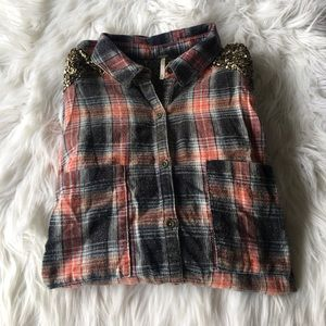 ✨FREE PEOPLE OVERSIZED FLANNEL✨
