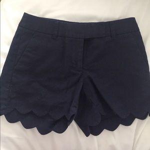 J.Crew Navy Scallop shorts 00