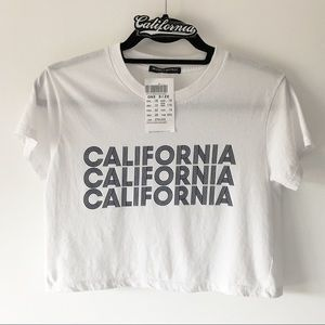 BNWT white California ultra cropped top