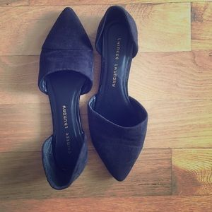 Chinese Laundry Black Suede Flats