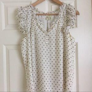 J.Crew Collection, polka dot blouse.