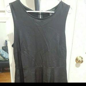 Black Faux Leather Dress Short Lenght