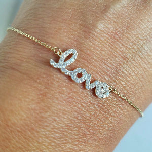 Jewelry - .35 carat Woman's 14k yellow Gold heart love chain