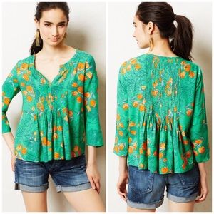 Anthropologie Vanessa Virginia Tulip Print Top
