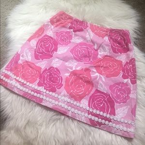 ADORABLE pink white label lilly pulitzer skirt sz4