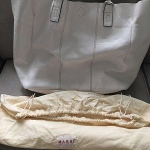 White leather Marni handbag