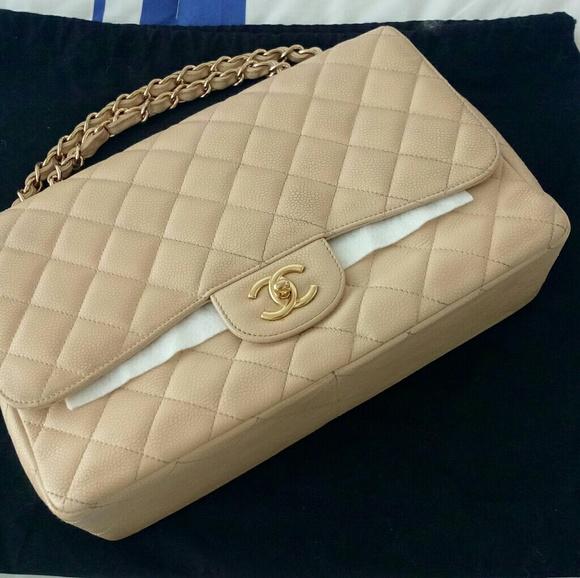 98c7b4929ce3 CHANEL Bags | Sold Vintage Jumbo Caviar Flap Bag | Poshmark