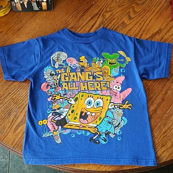 53421e54f Nickelodeon Shirts & Tops | Spongebob Square Pant The Gangs All Here ...