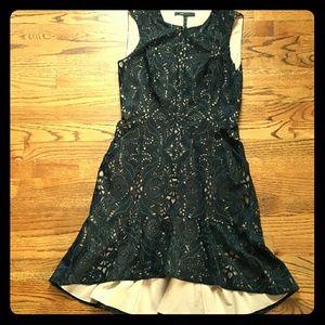 BCBGMAXAZRIA Black & Nude Dress Size 6
