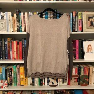TAN, BROWN, & MAROON colorblocked OLD NAVY sweater