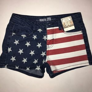 Pants - American flag shorts (junior size 14)
