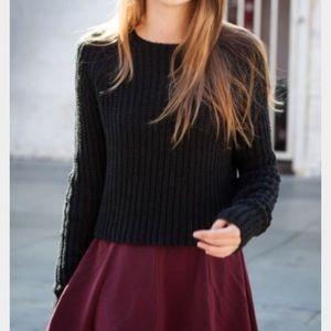 Brandy Melville dark red skirt