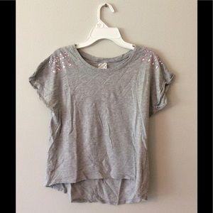 Light Gray Embellished Top