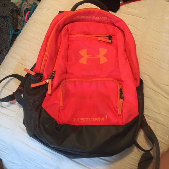 31decb1a764a Under armour backpack pinkish coral with orange. M 59766956a88e7d7b59009ca3