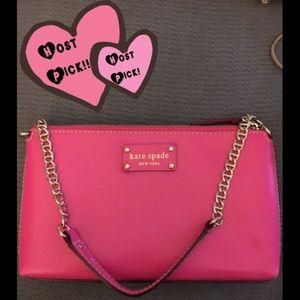 Bright pink Kate Spade clutch bag!